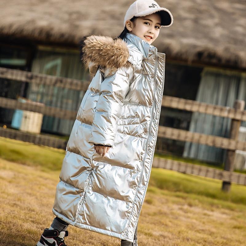 Girls Warm Coat Russian Winter Parkas Outerwear Waterproof Teenager Outfit Children Kid Girls Fur Hooded Jacket For 5-14 Years enlarge