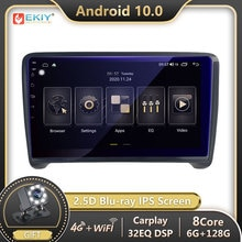 EKIY DSP Autoradio 2din Android 10 Für Audi TT MK2 8J 2006-2012 Auto Radio Band Recorder Multimedia Player stereo GPS Navigation