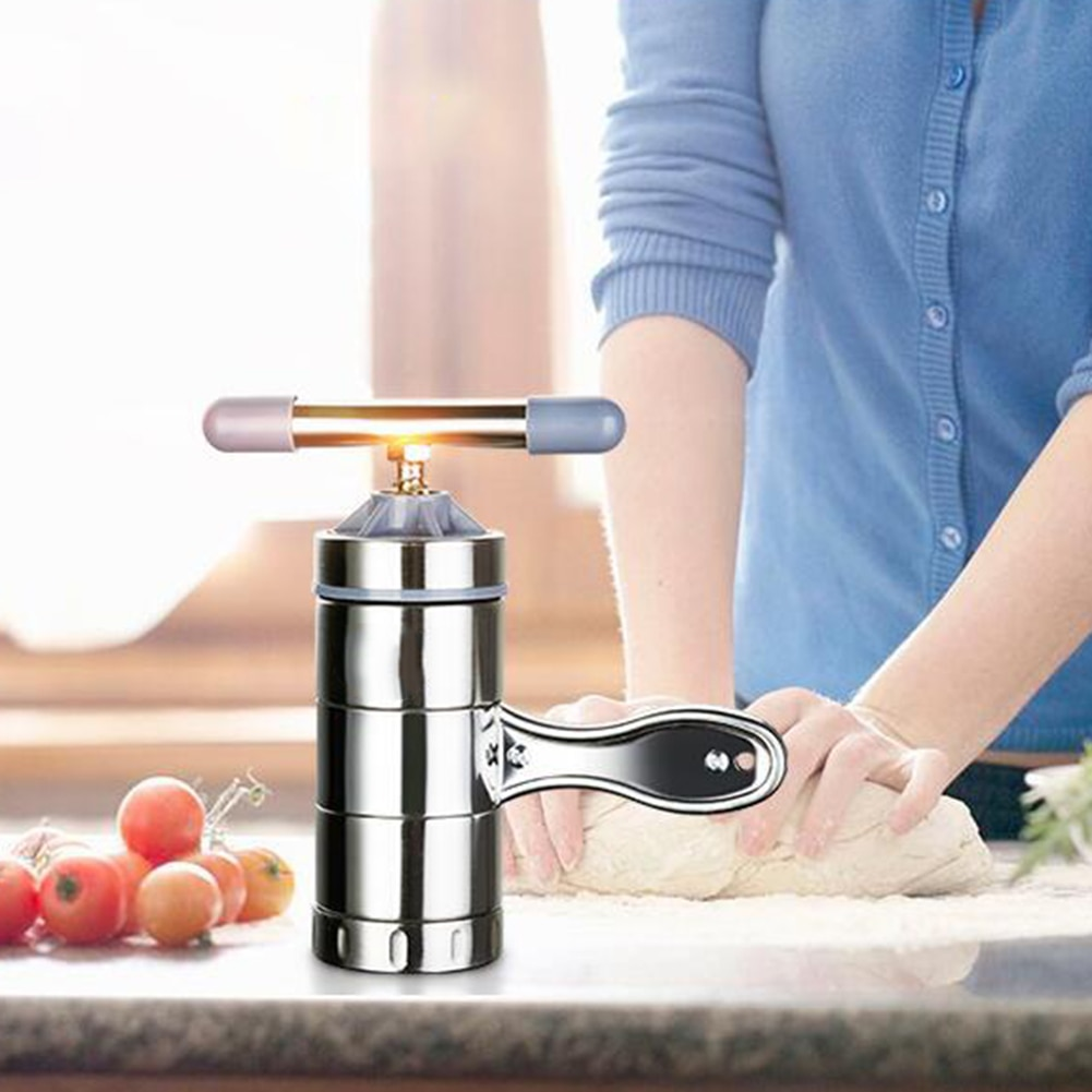 New Home Stainless Steel Manual Press Pasta Machine Noodle Maker Cutter Fruit Juicer Spaghetti  Measures Kitchen Gadgets