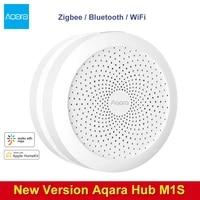 Aqara     Kit de maison intelligente M1S Gateway Hub Zigbee  interrupteur sans fil  Module relais  capteur de mouvement de porte fenetre pour Apple Homekit