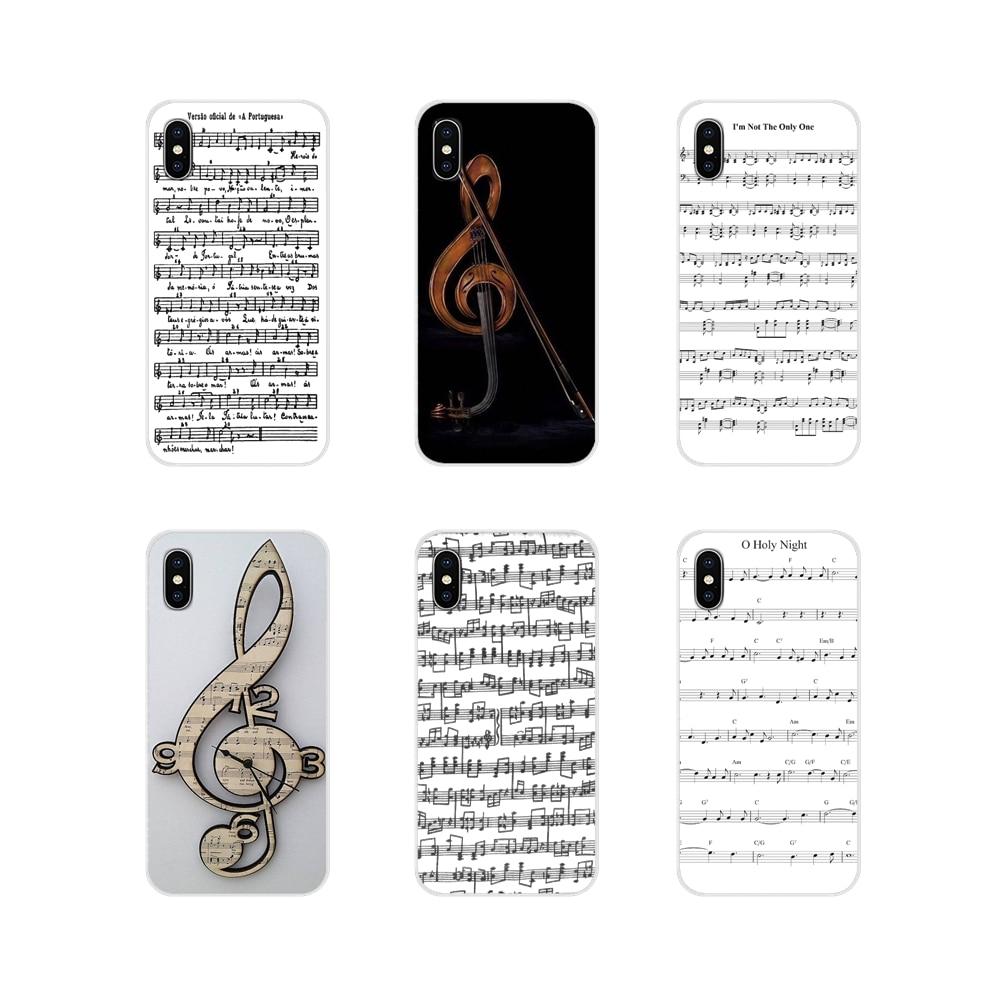 Violino musica nota musicale per Xiaomi Redmi 4A S2 nota 3 3S 4 4X 5 Plus 6 7 6A Pro Pocophone F1 accessori custodie per telefoni cover