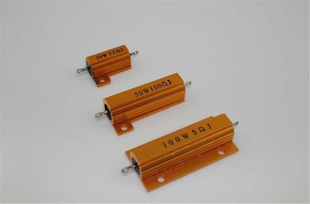 2 шт. RX24-100W Вт Мощность металлический корпус проволочный резистор 0,1 Ом ~ 6,2 Ом класс J ± 5%