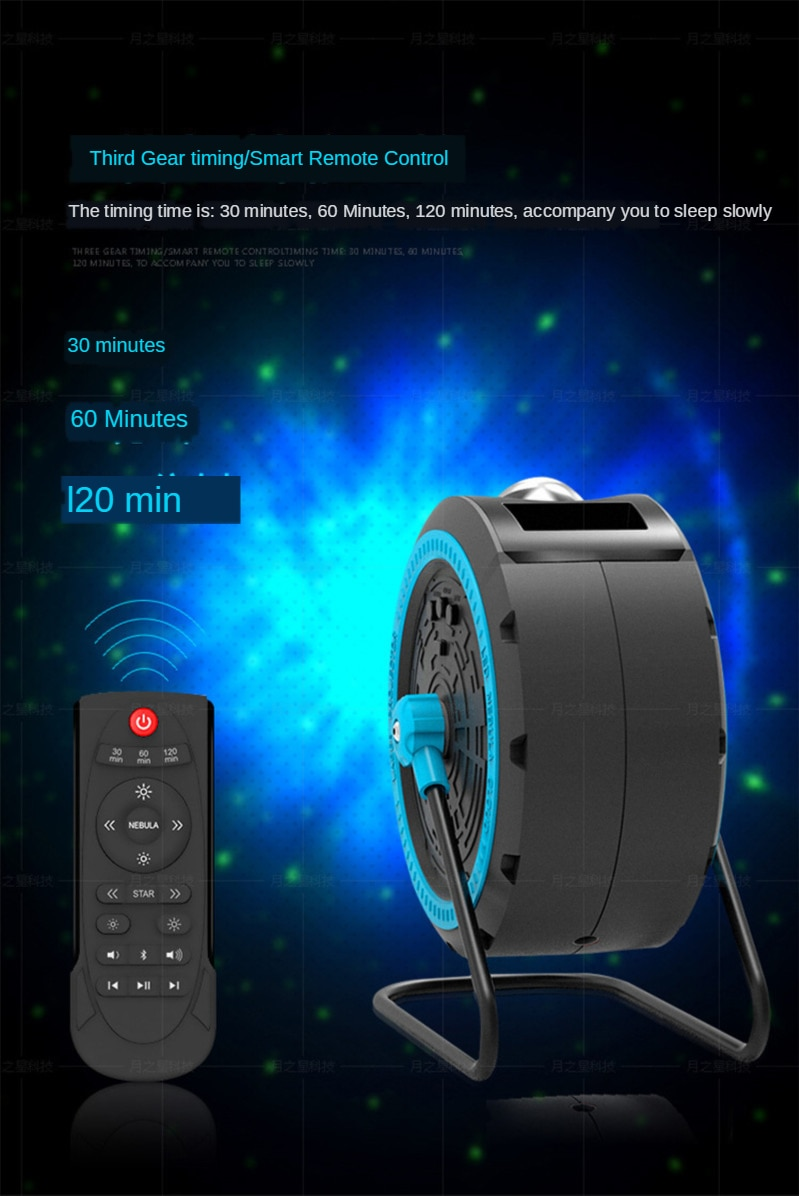 Bluetooth Starry Sky Projector Atmosphere LED Night Light Nebula Cloud Christmas Laser projector Music rotation for Kids Gifts enlarge