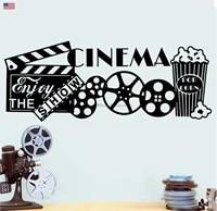 Autocollants muraux en vinyle pour decoration de cinema  sparadrap pour salon  maison  cinema  pop-corn  sparadrap pour cadeaux  XJ8