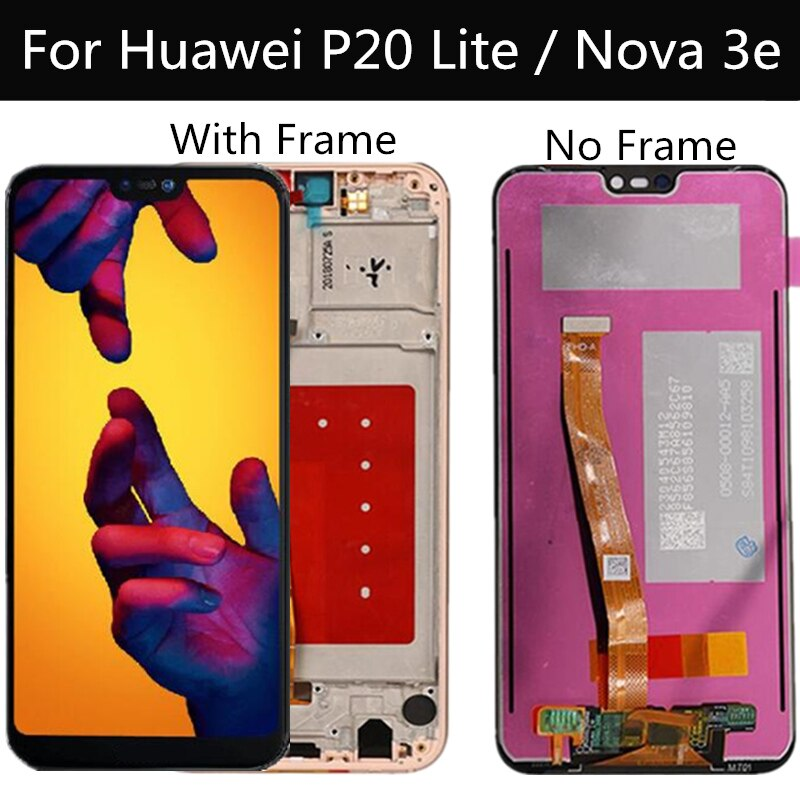Pantalla LCD de 5,84 pulgadas con marco para HUAWEI P20 Lite, pantalla Lcd + pantalla táctil para HUAWEI Nova 3e, ANE-LX1 LCD ANE-LX3