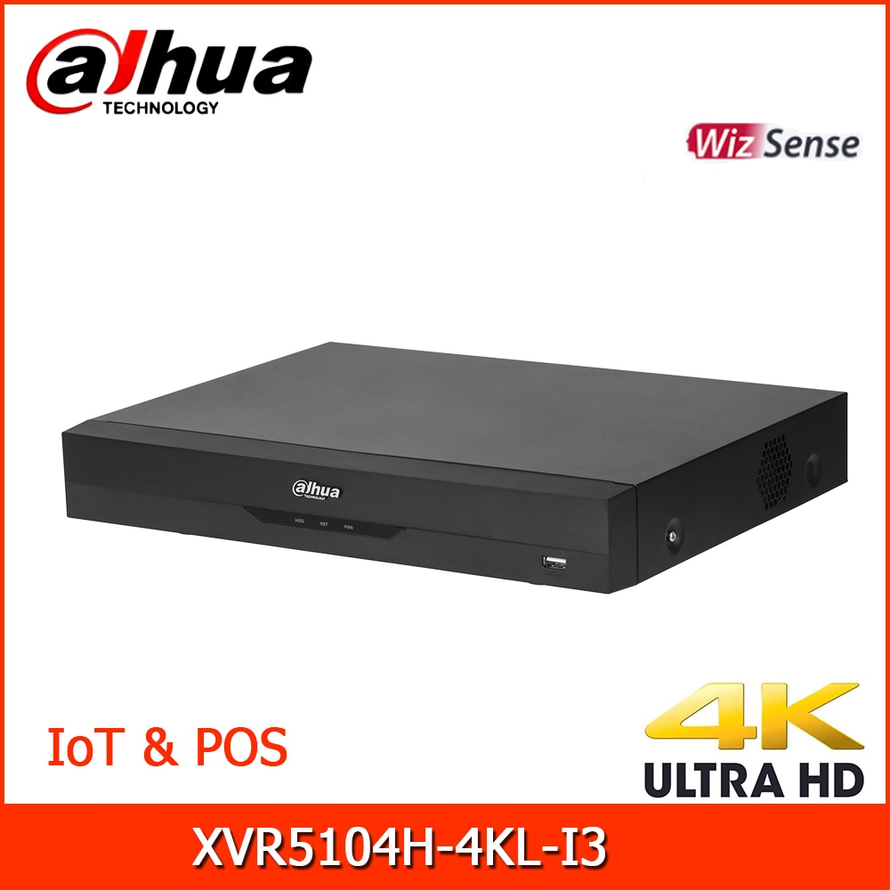 داهوا HDCVI مسجلات XVR5104H-4KL-I3 4 قناة خماسي brid 4K-N/5MP البسيطة 1U 1HDD WizSense الرقمية فيديو مسجل قام المحفل و POS