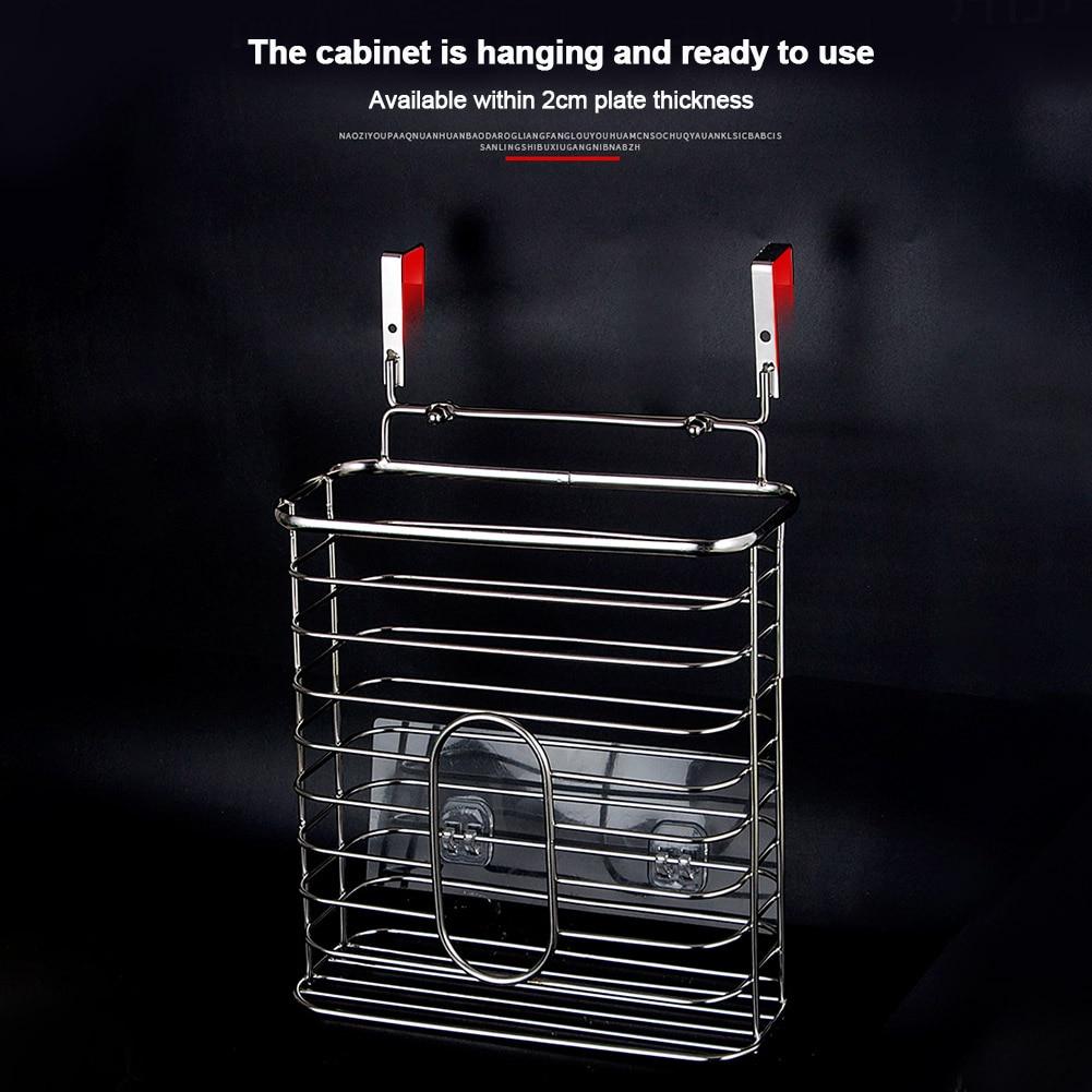 Estante dispensador de comestibles para guardar espacio, bolsa de basura, cesta de compras, organizador de cocina
