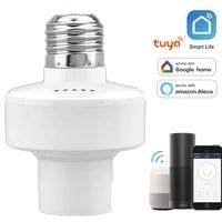 Adaptateur dampoule intelligente WiFi  support de lampe  Base E27  85V-250V AC  commande vocale sans fil Tuya avec Alexa Google Home