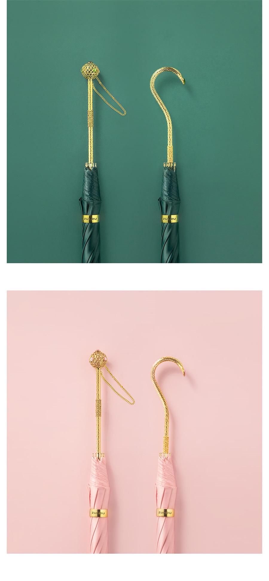 duplo-uso literário verde guarda-chuvas pára-sol oco guarda-chuva lidar com cor sólida