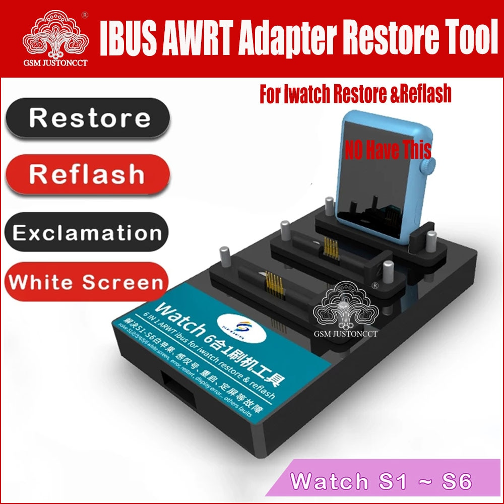 7 in1 ARWT Ibus Watch Adapter Restore Tool for iWatch S1/S2/S3/S4/S5/S6 38mm 42mm Recovery Reflash Repair Tool