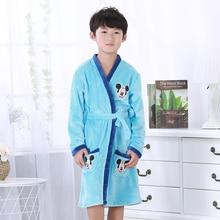Robes de pyjama pour enfants   Tenue de bain en flanelle, motif Animal charmant, pour garçons et filles, 2 à 14 ans