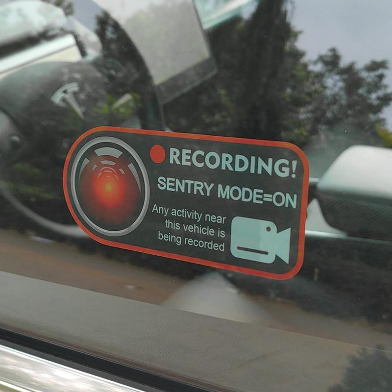 Voiture Sentry Mode enregistreur statique autocollant enregistrement rappel intérieur fenêtre autocollant modifié pour Tesla modèle 3 X S Y accessoires