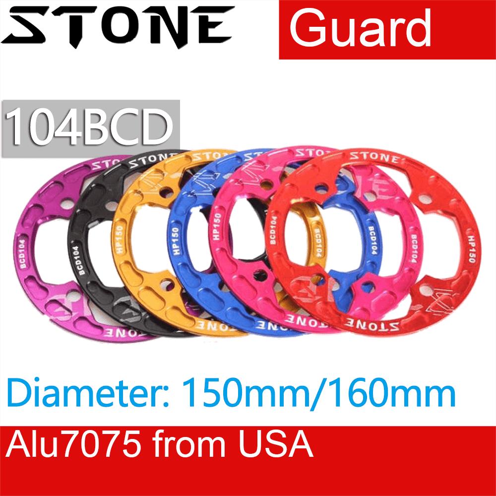 Cubierta protectora para cadena de piedra 104 BCD, Protector de bicicleta angosto, ancho 150 160mm 30 32 34 36, XC AM FR DH Downhill