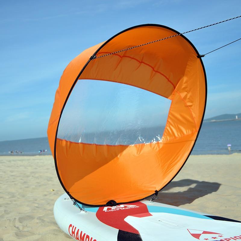 108cm Segeln Segelboot Faltbare Kajak Windsurfen Kanu Surfen Ruderboot Wind Klar Fenster Kanu Segel Zubehör