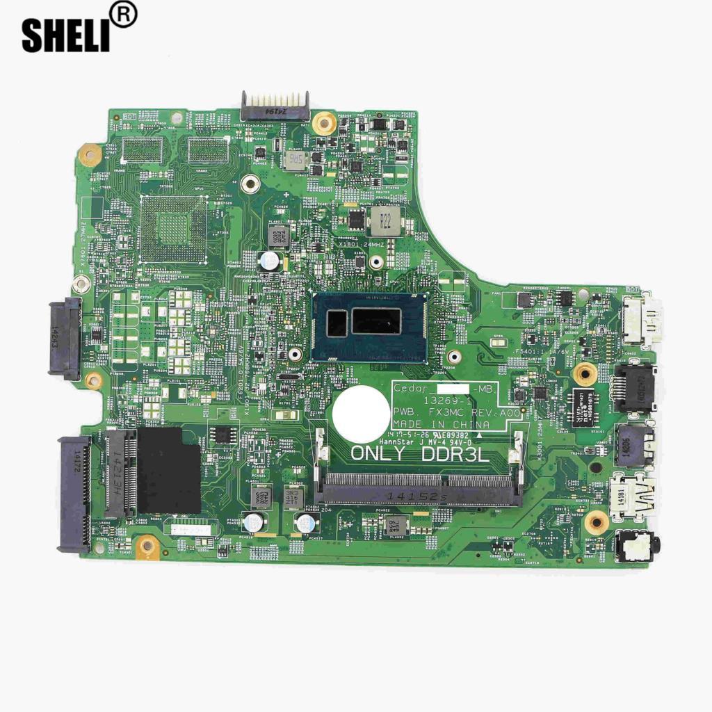 الكمبيوتر المحمول UMA DDR3L اللوحة 13269-1 FX3MC ث/i5-5200U وحدة المعالجة المركزية لديل انسبايرون 17-5748 / 15-3542 / 14-3442 CN-00XDMH 0XDMH