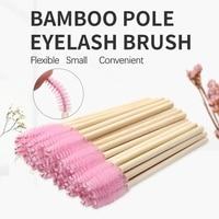 Одноразовая кисточка для макияжа 100 шт., кисточка для ресниц, тушь для наращивания ресниц, аппликатор, инструменты для макияжа, ручка для щет...