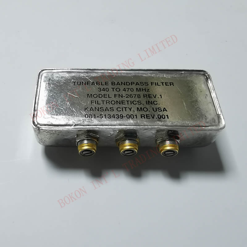 Filter 340MHz TO 470MHz FN-2678 TUNABLE BANDPASS FILTER Frequency 340-470MHz Cross reference FN-2225W 340-385MHz