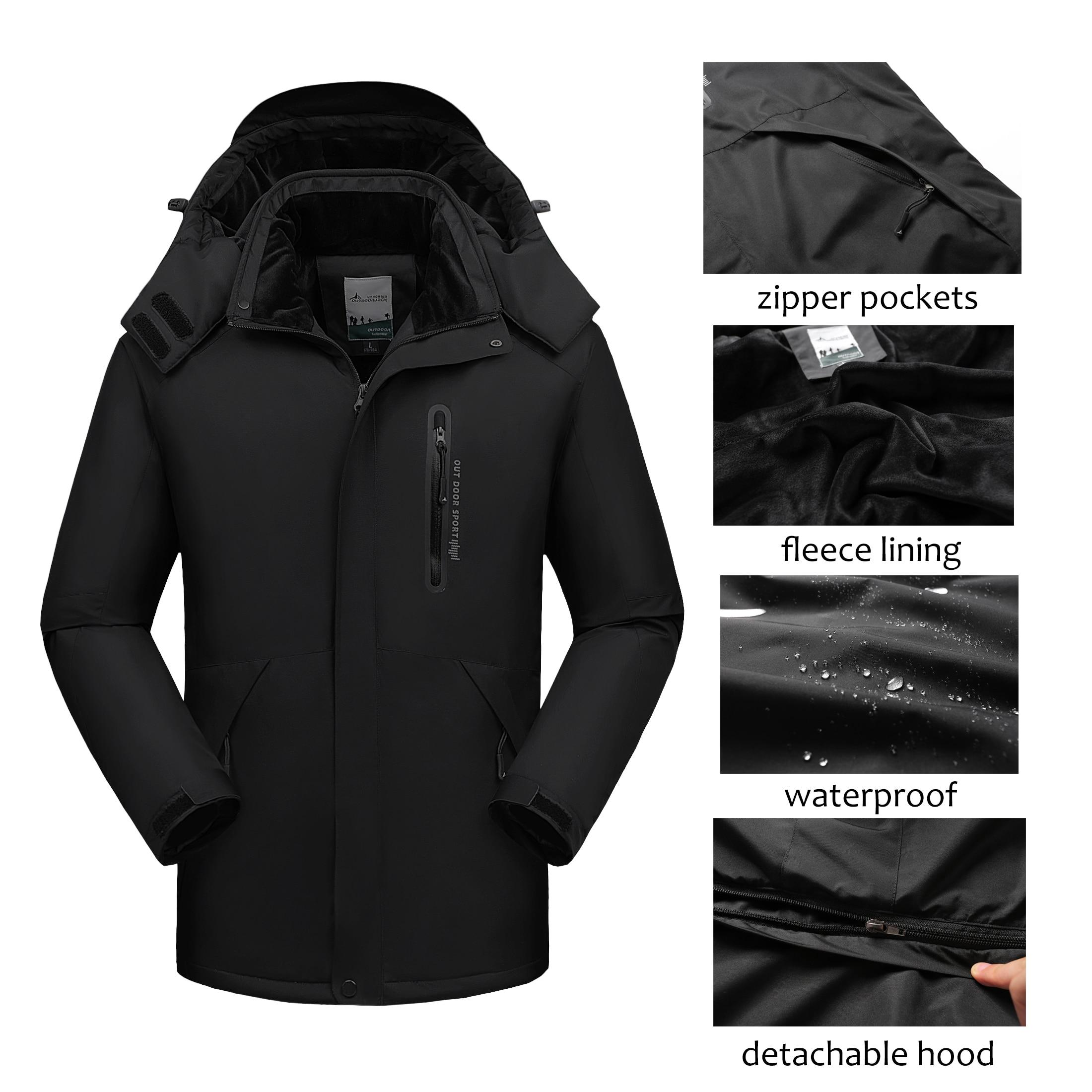 Chaqueta de invierno para hombre impermeable con capucha cortavientos para hombre grueso cálido Parkas chaqueta de abrigo de lana Hombre de talla grande 7XL 8XL 9XL Dropshipping