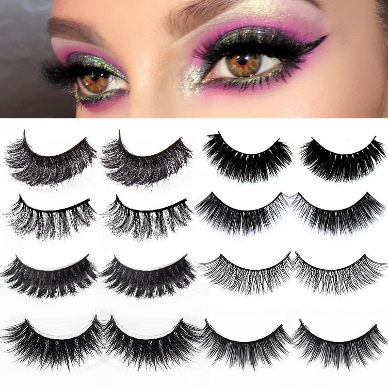 50/5/3pair False Eyelash Natural Thick Long Eye Lashes Makeup Fake Beauty Extension Tools Mink Eyelashes