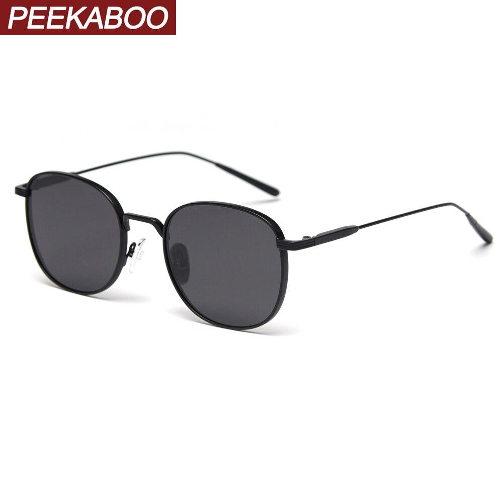 Gafas de sol cuadradas para mujer Peekaboo polarizadas uv400 montura metálica gafas de sol para hombre para conducir 2020 verano estilo coreano de alta calidad