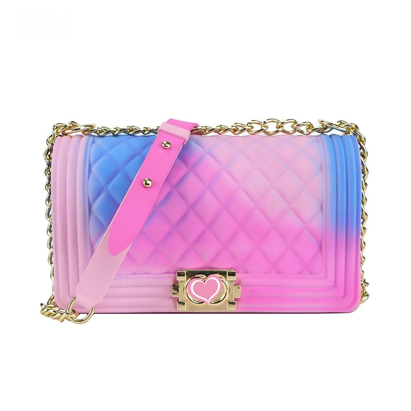 Ladies Rainbow Jelly Bag 2020 Fashion New Luxury Bag Ladies Bag Designer Large Backpack Ladies Bag