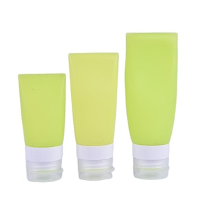 38/60/80ml Refillable Bottles Silicone Skin Care Lotion Shampoo Gel Squeeze Bottle Tube Containers Protable Travel Squeeze Kits