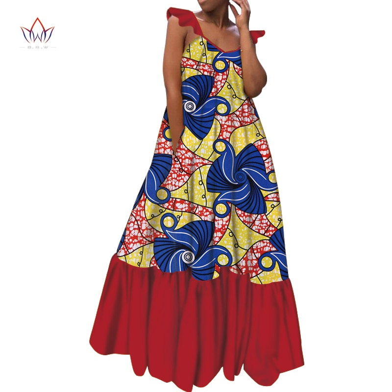 African Dress For Women Plus Size Women O-Neck Clothing Maxi Dress Dashiki In African Clothing Party Long Print Outfits  WY5374 недорого