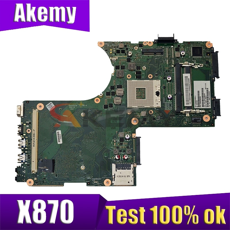 AKEMY V000288020 لأجهزة الكمبيوتر المحمول توشيبا Q0SMI0 X870 اللوحة 6050A2493501-MB-A02 SLJ8E DDR3 اللوحة الرئيسية للكمبيوتر المحمول
