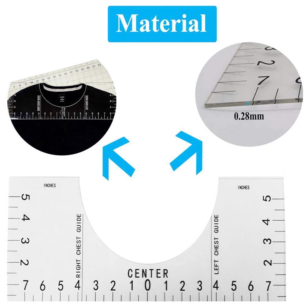 Линейка для футболок, линейка для сублимационного дизайна, линейка для футболок, Таблица Размеров, линейка для футболки и шеи