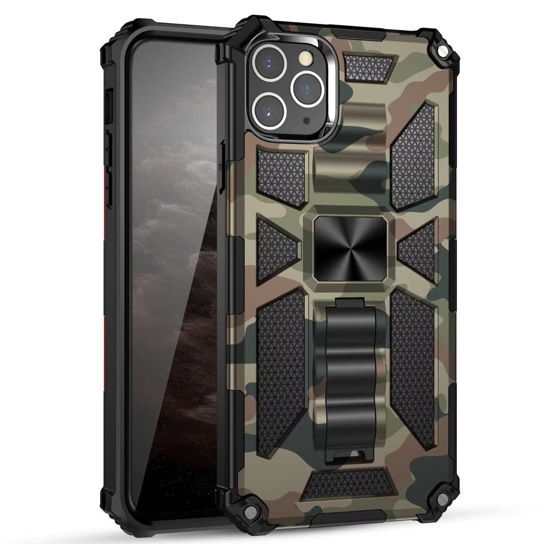Funda Case for iPhone 12 Pro Max 12 Mini XS Max XR 7 8 Plus Camouflage Armor Coque Shockproof ProtectivePhone Case Cover Capa