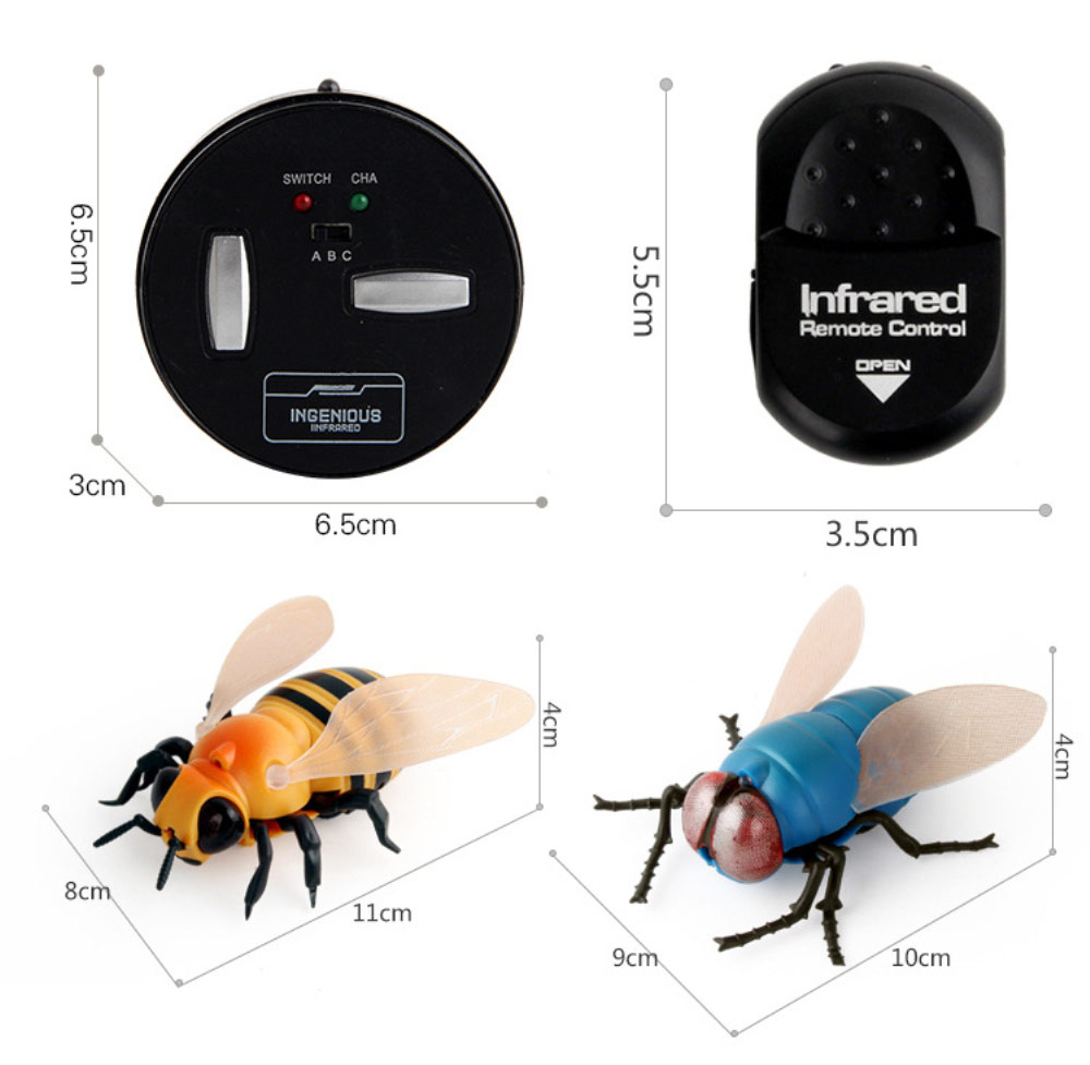 Infrared RC animal Insect Toys Simulation spider bee fly crab Ladyb mantis Electric robot Toy Halloween Prank Insects kids toys enlarge
