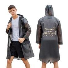 YUDING New design high quality waterproof TPU mens black rain coat jacket fashion women ladies long hooded raincoat five colors