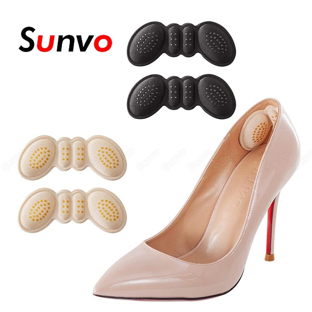 noir + abricot SUPVOX coussin de talon haut coussinets protecteurs de soin des pieds talon prot/ège poignet hommes femmes dame 2 paires