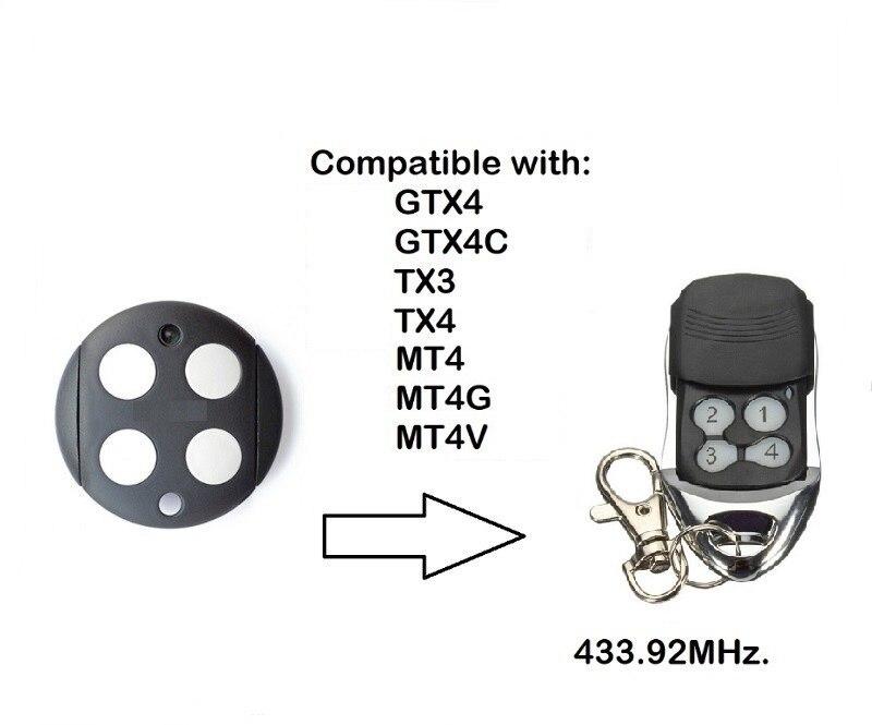 Для копирования GTX4 пульт дистанционного управления гаражом MOOVO MT4 Открыватель двери 433,92 МГц непрерывный код