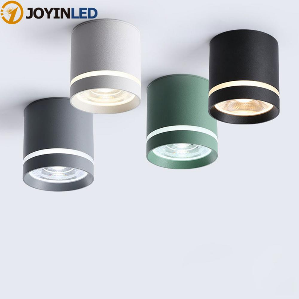 Dimmable Cylinder LED Downlights 10W 12W 15W COB LED Ceiling Spot Lights AC85~265V LED Background Lamps Indoor Lighting