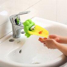 Extensor de grifo con forma de cangrejo y Rana para baño de niños, accesorios de baño con dibujos animados, Lavable a mano
