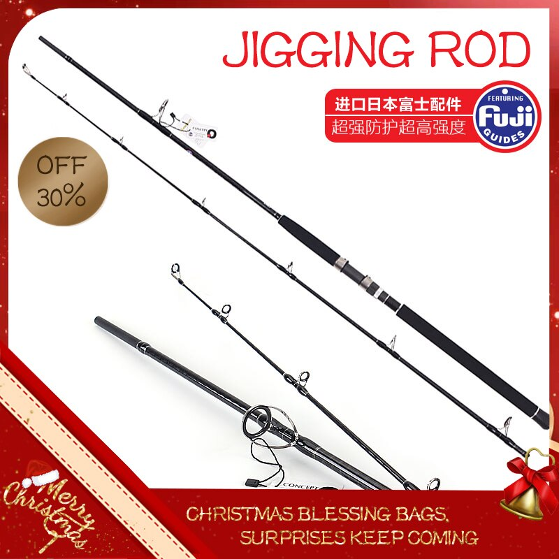 Lurekiller jigging rod fishing rod jig Japan Fuji Cross carbon shore boat Ocean popping rod 2.7m/3.0m Spinning  fishing rod