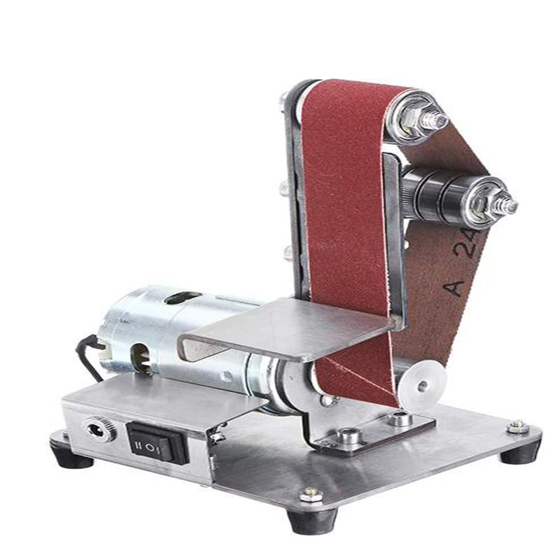 Mini Electric Belt Machine Sanding Machine Grinding and Polishing Machine Cutting Machine DIY Polishing Machine Table