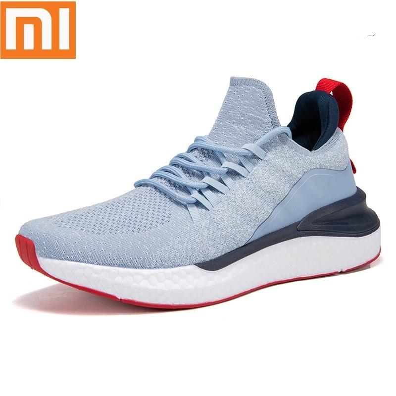 شاومي أحذية رياضية الرجال في الهواء الطلق الأحذية يوني صب ثلاثية الأبعاد هيكل السمكة قفل نظام تنفس الحياكة العلوي الاحذية