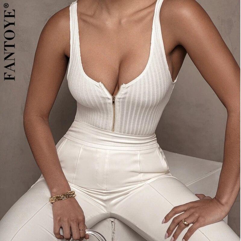 FANTOYE Body sin mangas Sexy de verano, Body negro básico, Body para mujeres, mono, Body Top femenino 2020 Streetwear