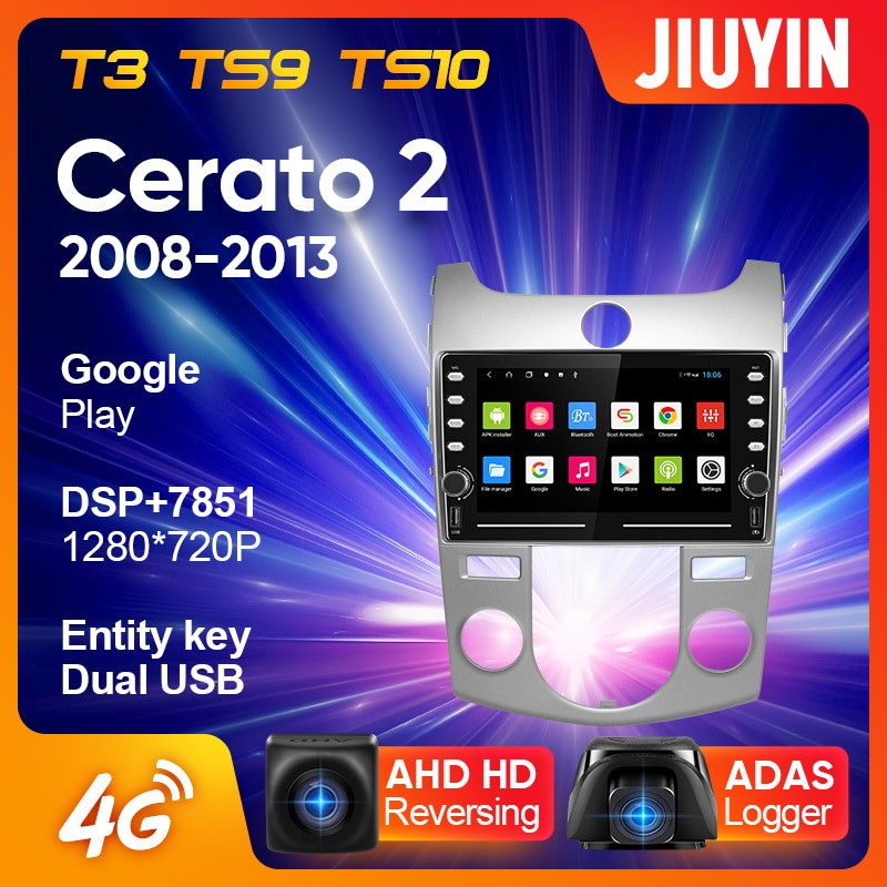 JIUYIN For Kia Cerato 2 TD 2008 - 2013 Car Radio Multimedia Video Player Navigation GPS Android No 2din 2 din dvd