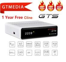 IPTV Cccam GTmedia GTS Android 6.0 Smart TV BOX Amlogic S905D DVB-S2 récepteur Satellite WIFI 2G/8GB BT4.0 récepteur décodeur
