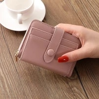 5 color 2021 small leather coin purses korean trend cute coin wallet women zipper hasp brand card holder high quality monederos