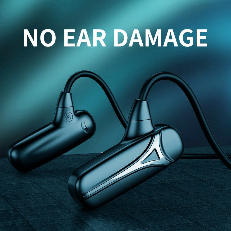 Bluetooth Earphones Sports Waterproof Headsets Noise Cancelling Wireless Headphone Bone Conduction W