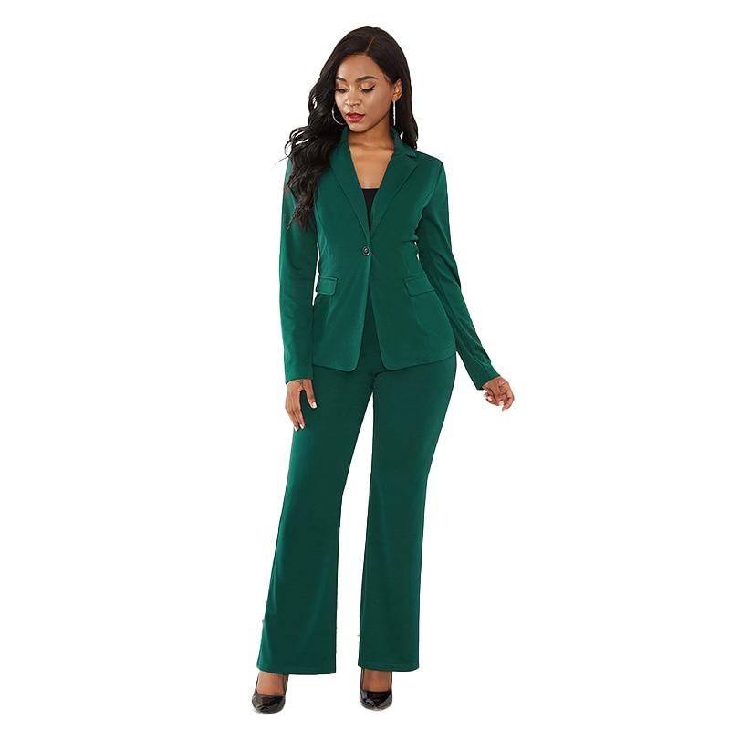 الصلبة اللون قطعتين مجموعة ضئيلة أنيقة مكتب دعوى الأعمال ارتداء 2021 الخريف والشتاء المرأة الملابس مثير قطعتين دعوى