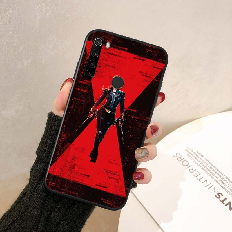 Marvel Avengers Black Widow For Xiaomi Redmi Note 10S 10 9 9S 8T 8 7 6 5 Pro 5A 4X 4 Pro Max 4G 5G Silicone Soft Phone Case