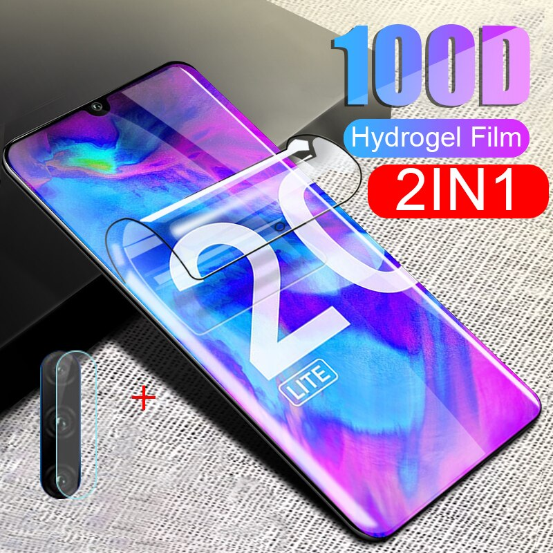 """2-in-1 Tempered glass for honor 20S 6.15"""" 20 Lite Ru camera lens screen protector on honor 20 pro"""