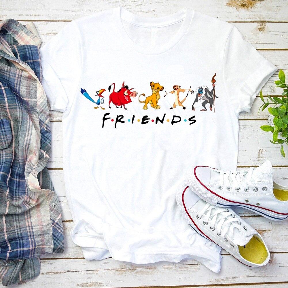 Женская рубашка с животным принтом «королевство», «Красавица и Чудовище», «Друзья», Милая футболка с графическим принтом для отпуска, милый топ и футболка для пары, 2020