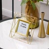 modern simpe frame ornament bedroom boho picture holder elegant gold photo frame boyfriend gifts marco fotos home decor df50xk