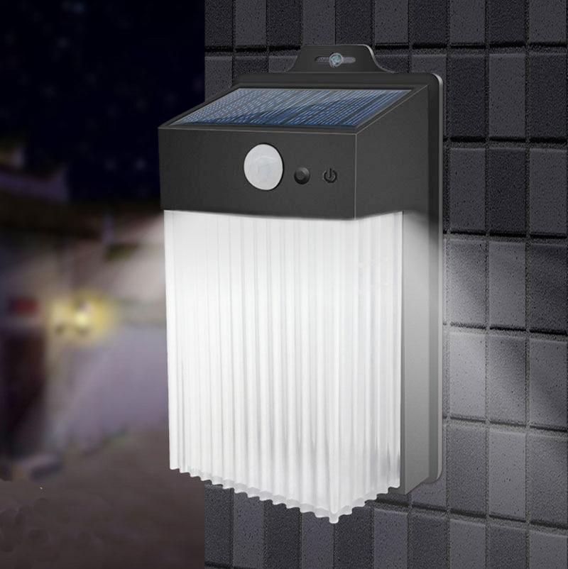 50LEDs lámpara Solar Sensor de luz Led portátil de pared automáticamente tienda de campaña linterna de jardín nocturno de carretera luz impermeable al aire libre